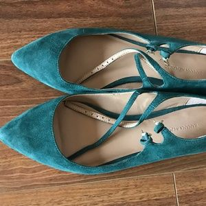 Banana Republic Faux Suede Pointy Toed Flats